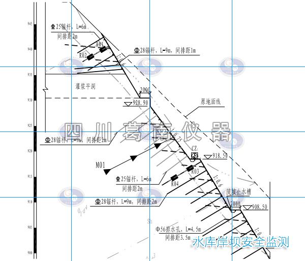 水库岸坡安全监测布置及仪器安装说明