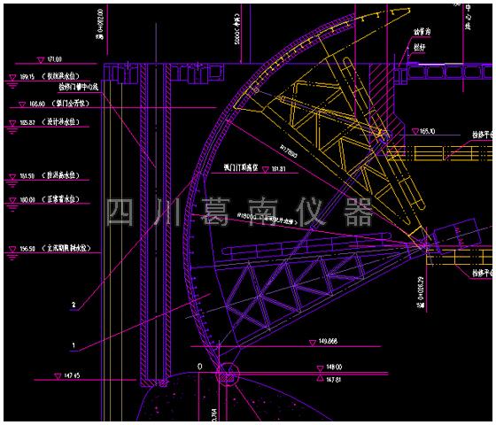 弧形闸水位标尺设计与制作