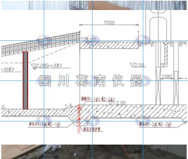 广东闸墩测压管扬压力计安装