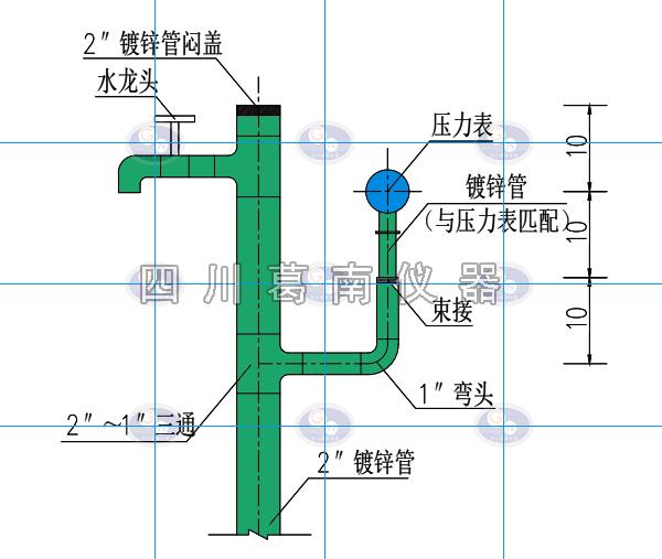 水库廊道测压管设计安装示意图