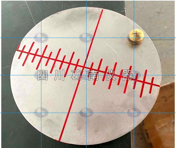 水平沉降位移十字准线盘