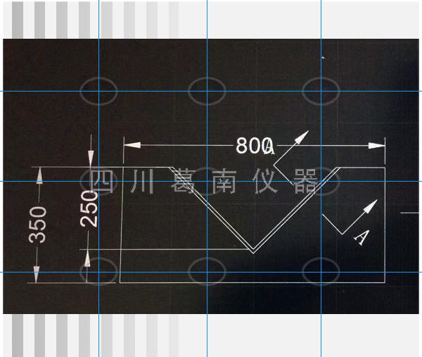 800-350直角量水堰板