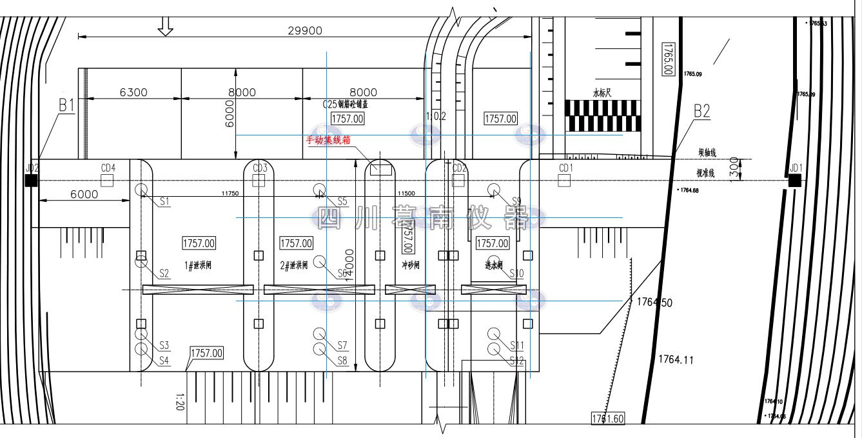 松潘县旧堡子水电站灾后恢复扩建工程安全监测仪器布设