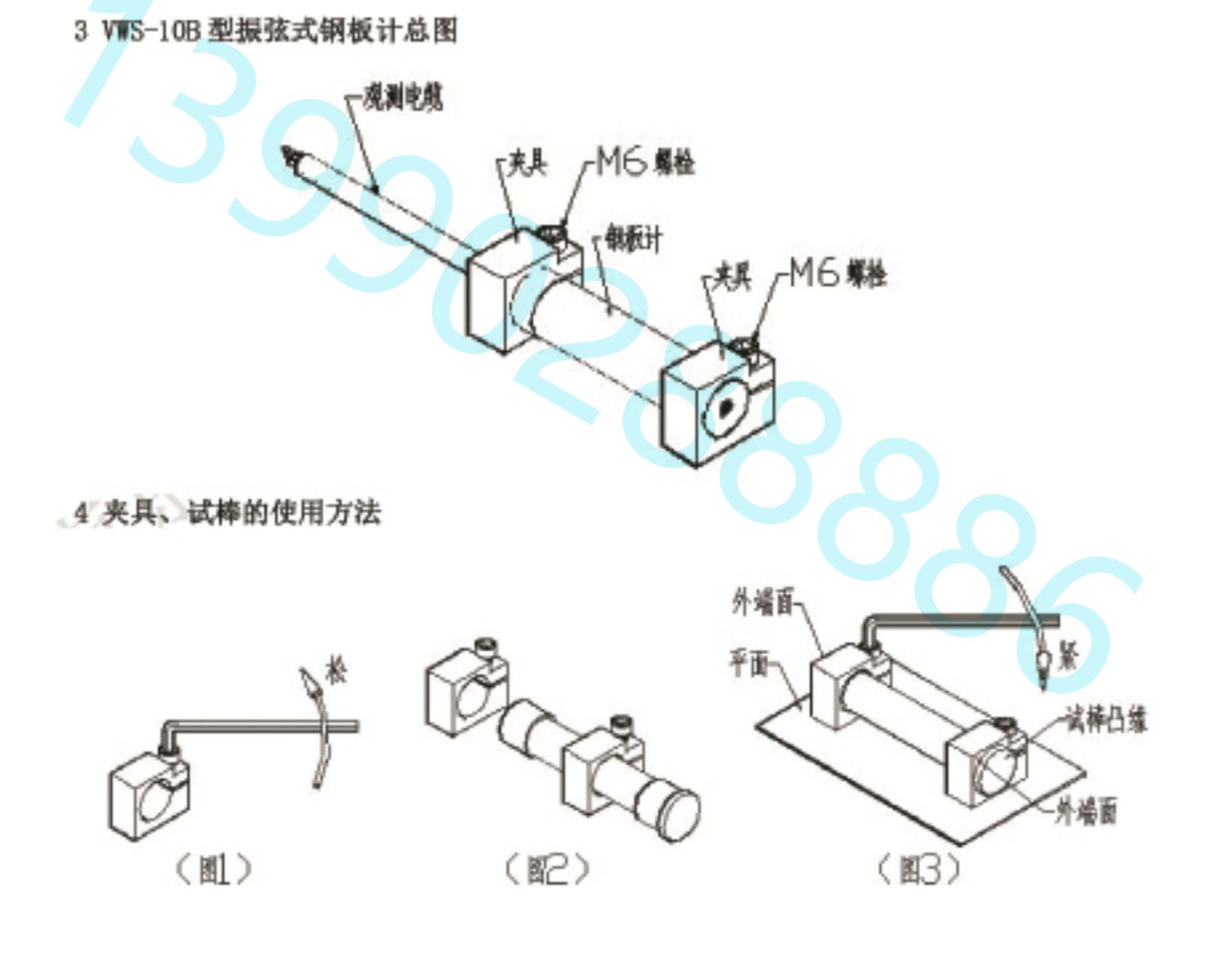 [四川葛南仪器]VWSB型钢板计安装指南