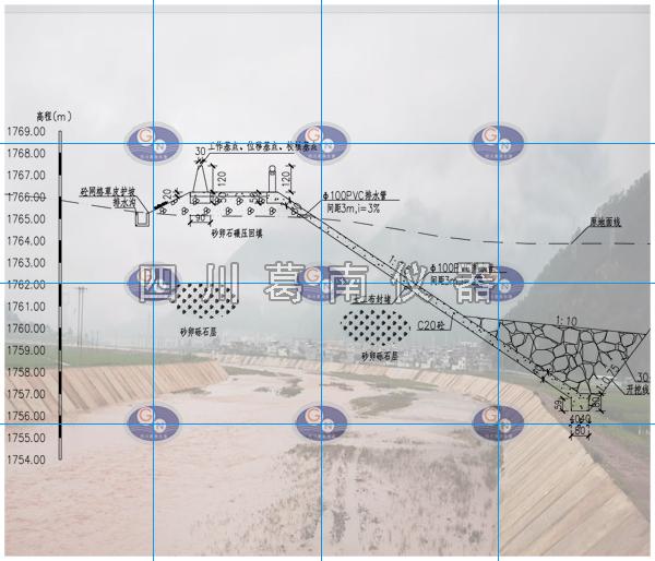 喜德县冕山镇孙水河五合大桥段防洪治理工程沉降位移监测点布置与安装