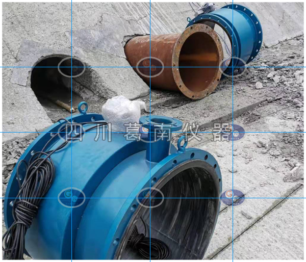现代化灌区取水口放水洞流量监测设备安装