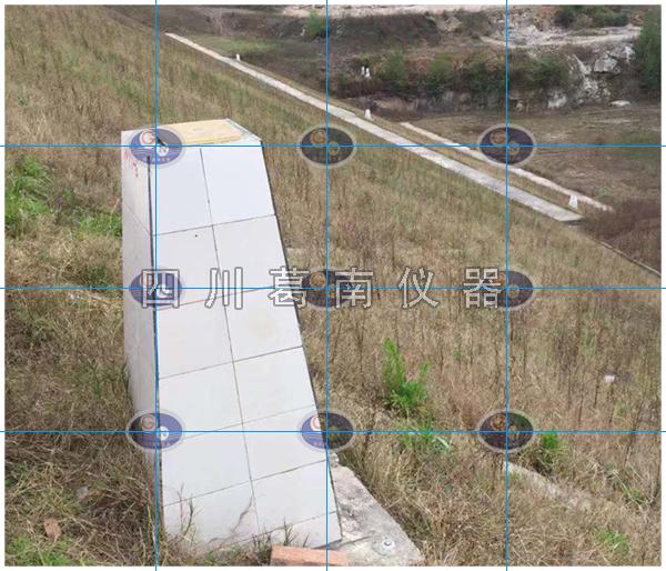 水库外坝坡对中基座和水准标点施工成果参考