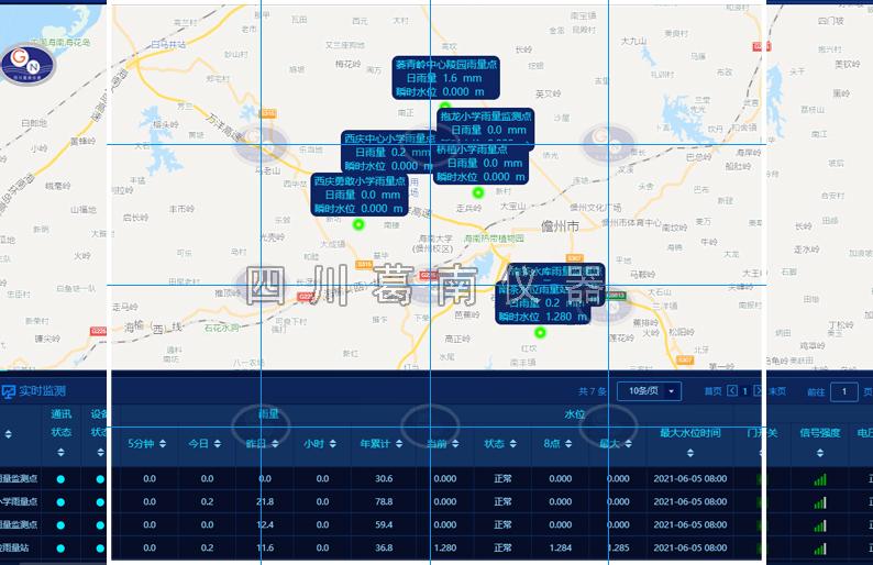 【四川葛南仪器】小型水库水雨情及图像动态预警监测系统,主要适用于小型水库现地采集内容包括水位、雨量和图像以及4G视频监控。