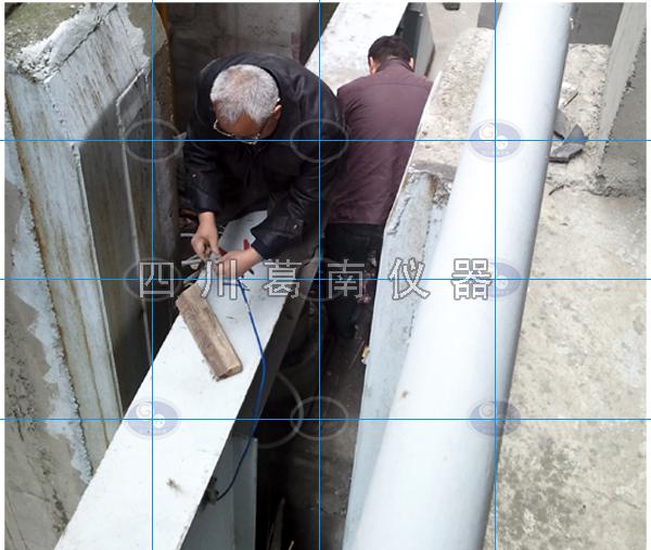 钢板闸钢板应力监测仪器安装方法