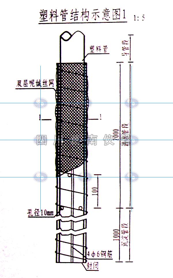 塑料管测压管布置及制作方法