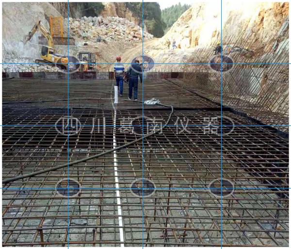 湖南某重力坝安全监测仪器埋设及安装