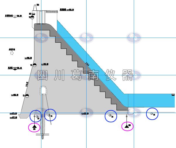 重力坝基岩变位计和亚博验证安装
