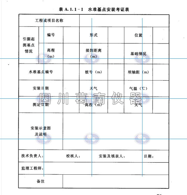 大坝安全监测仪器安装(表面变形观测)