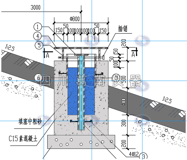 【四川葛南仪器】沉降位移双标底座制作