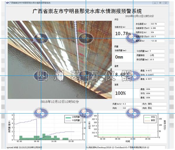 广西宁明县那党水库大坝安全监测仪器及水情测报系统建设