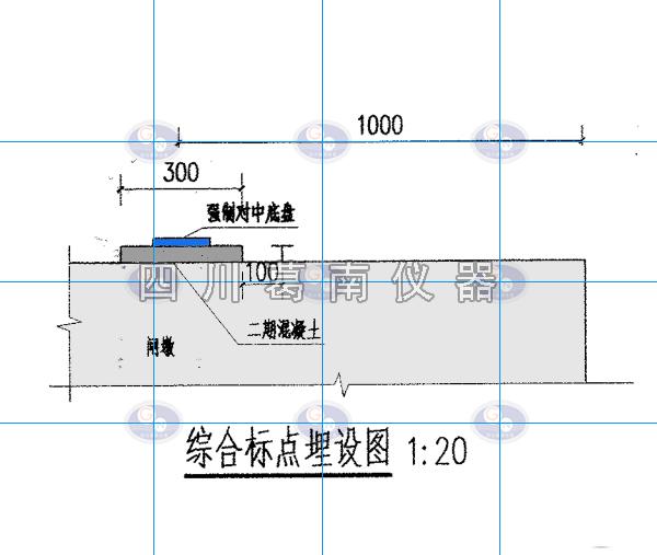 闸坝综合标点埋设安装