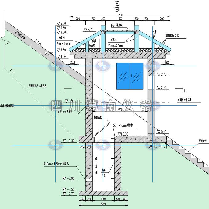 水管式沉降仪和钢丝水平位移计观测房建设尺寸