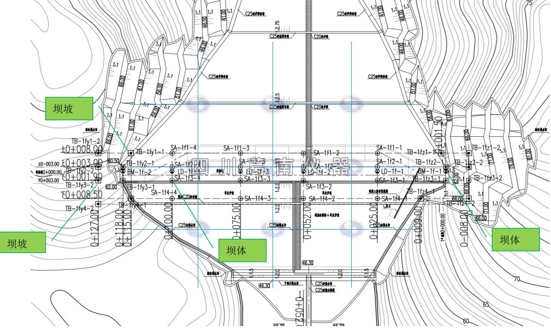 坝体外部变形监测布设与起测基点设立