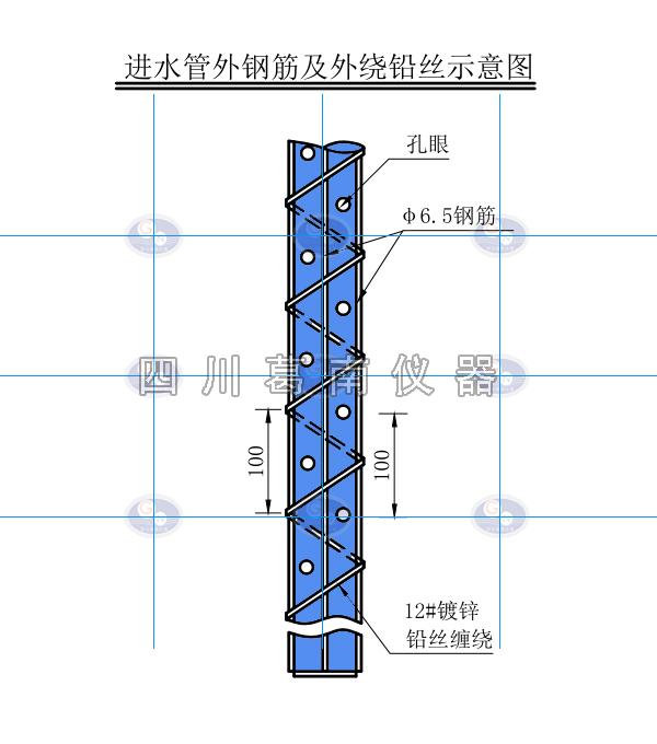 水库测压管顶部结构详图及测压管结构图以及测压管透水段加工要求