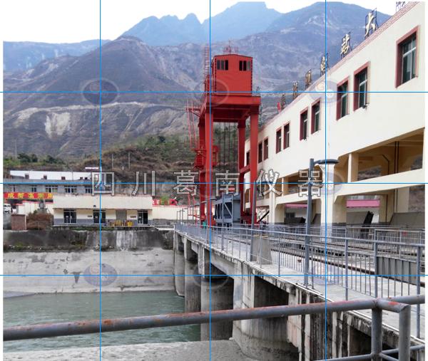 姜射坝水电站水位标尺安装